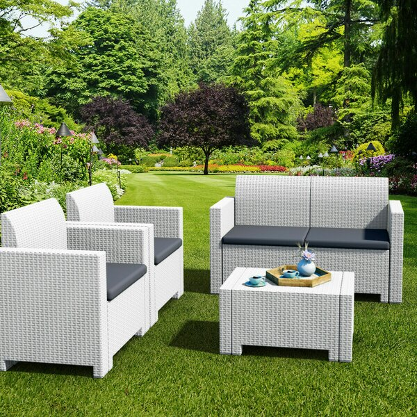 Malachy 4 Piece Sofa Seating Group with Cushions by Rosecliff Heights