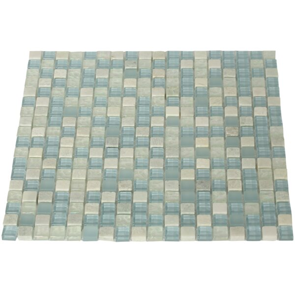 Mist Trail 0.5 x 0.5 Mixed Material Mosaic Tile in Blue by Splashback Tile