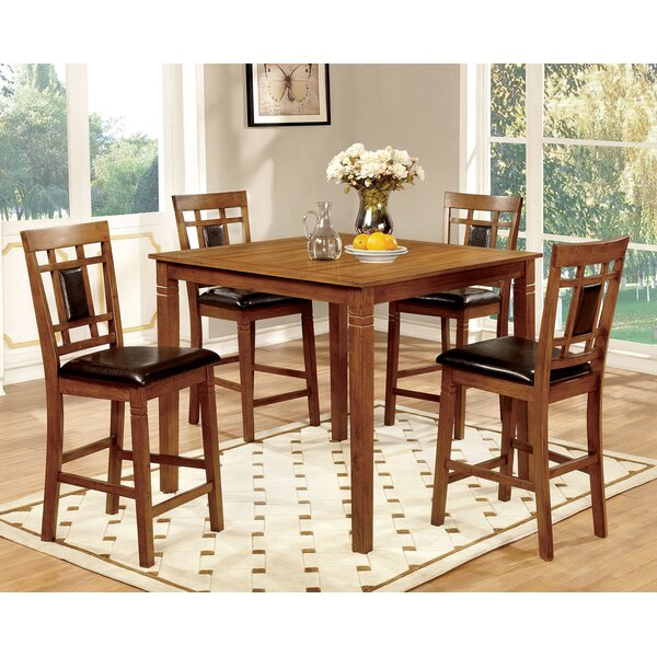 Yerger 5 Piece Counter Height Dining Set by Winston Porter