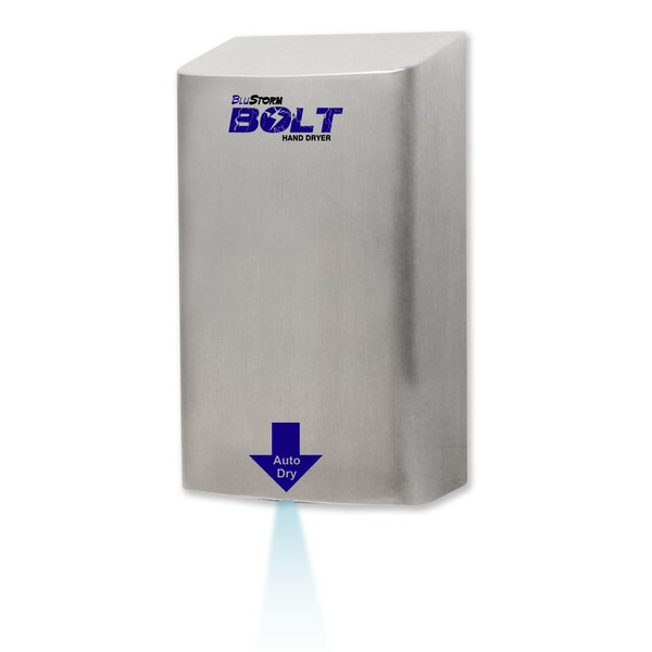 BluStorm Bolt Touchless High Speed 240 Volt Hand Dryer in Stainless Steel by Palmer Fixture