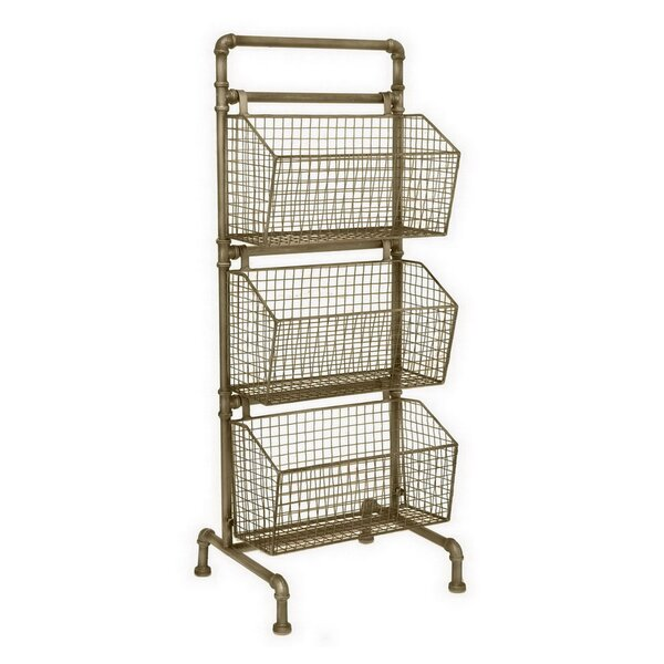 40.5 H x 15.5 W Storage Rack by Three Hands Co.