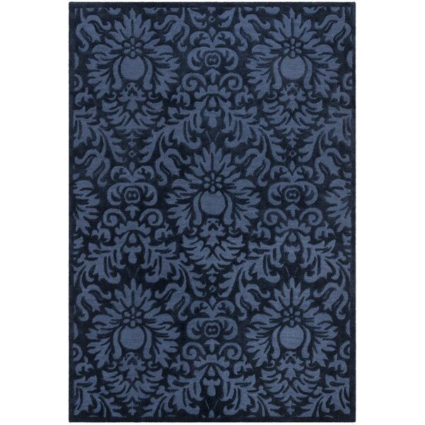 Kingsview Hand-Hooked Blue Area Rug by Ophelia & Co.