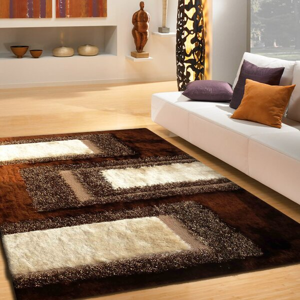 Hand-Tufted Brown Area Rug by Rug Factory Plus