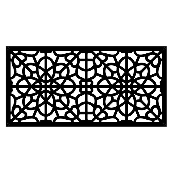 2 ft. H x 4 ft. W Fretwork Fence Panel by Xpanse Select Vinyl Railing