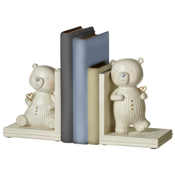 Perry 2 Piece Bear Bookends Set by Viv + Rae