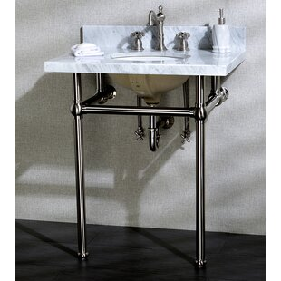 Pedestal Sink With Chrome Legs   Wayfair