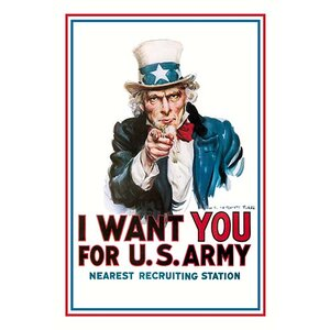 I Want You for the U.S. Army by James Montgomery Flagg Vintage Advertisement by Buyenlarge