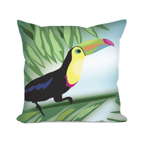 Sunikka Toucan Throw Pillow by Bayou Breeze