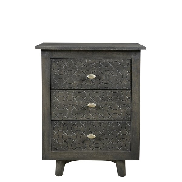 Endsley 3 Drawer Nightstand by Bungalow Rose