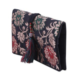 Compare & Buy Path of Flowers Brocade Jewelry Travel Case ByBloomsbury Market