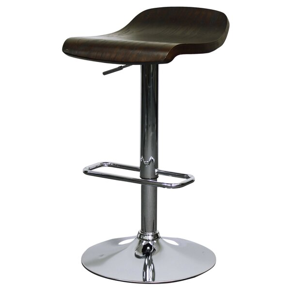 Haigh Adjustable Height Bar Stool (Set of 2) by Ebern Designs