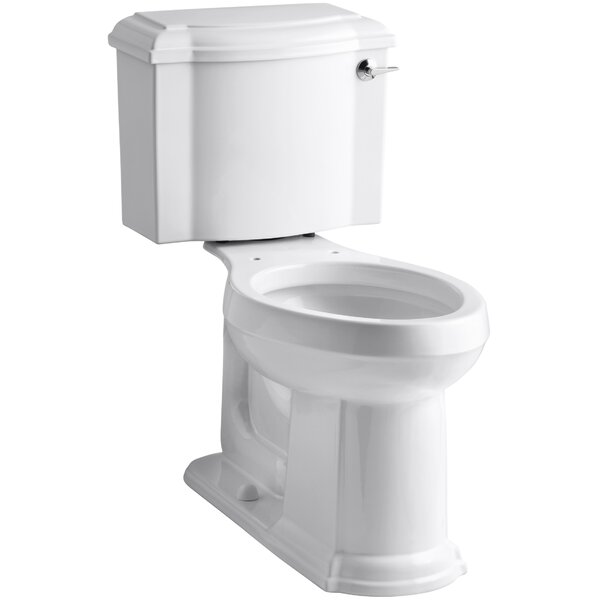 Devonshire Comfort Height Two-Piece Elongated 1.28 GPF Toilet with Aquapiston Flush Technology and Right-Hand Trip Lever by Kohler