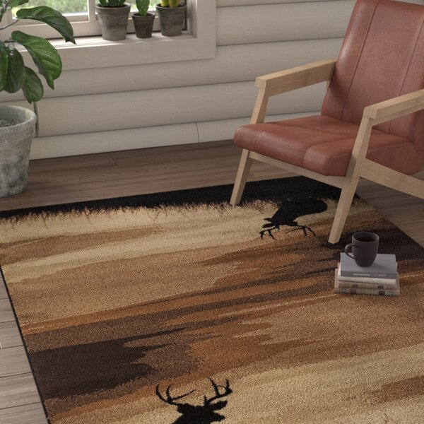 Pippen Hazy Distance Brown/Beige/Black Area Rug by Loon Peak