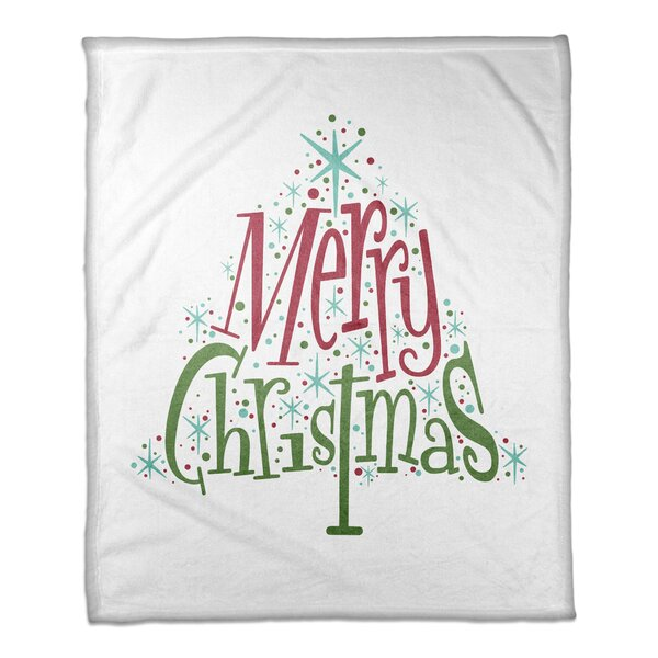 Butler Midcentury Modern Merry Christmas Blanket by The Holiday Aisle