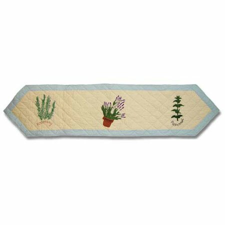 Herb Garden Table Runner by Patch Magic