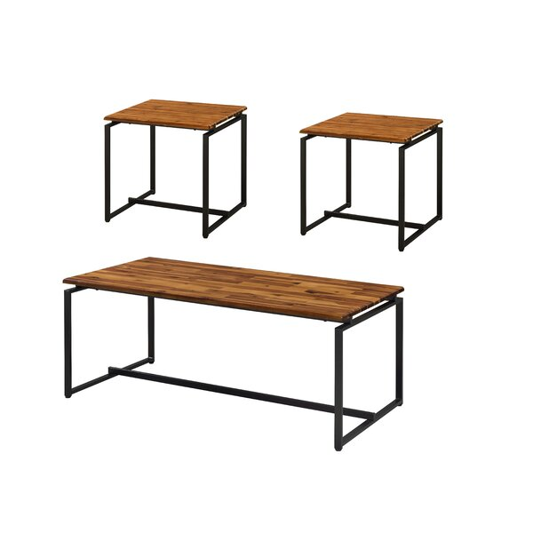 Seren Metal Frame 3 Piece Coffee Table Set by Foundry Select Foundry Select