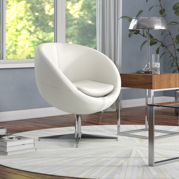 Evanston Swivel Papasan Chair by Wade Logan