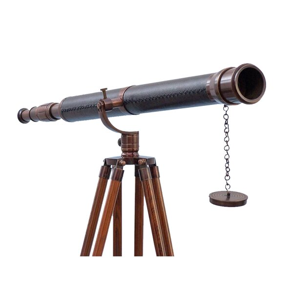 Floor Standing Galileo Refracting Telescope by Handcrafted Nautical Decor