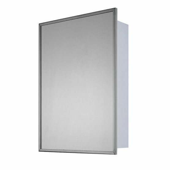 Norine Stainless Steel Single Door 22 x 16 Recessed Framed Medicine Cabinet with 2 Adjustable Shelves by Winston Porter