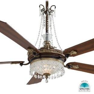 Ceiling fan light kits youll love wayfair cristafano chandelier ceiling fan light kit aloadofball Images