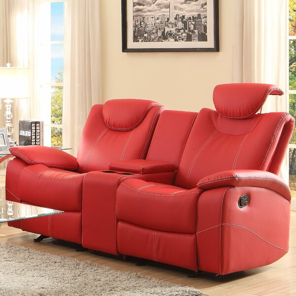 Modern Style Erik Double Glider Reclining Loveseat by Latitude Run by Latitude Run