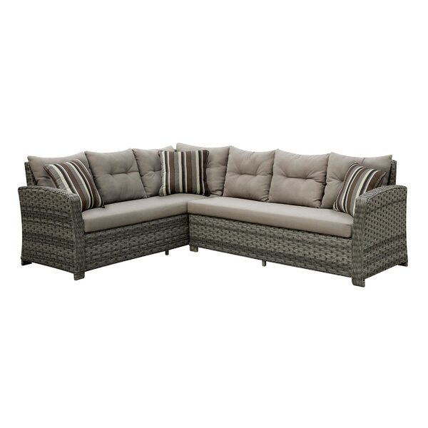 Kogan Patio 2 Piece Sectional Seating Group with Cushions
