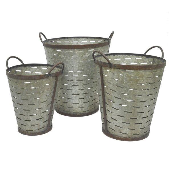 Crumley 3-Piece Bucket Pot Planter Set by August Grove