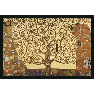 'The Tree of Life' by Gustav Klimt Framed Painting Print by World Menagerie