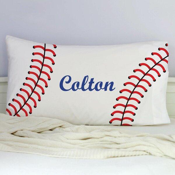 Kinnear Personalized Baseball Pillowcase by Zoomie Kids