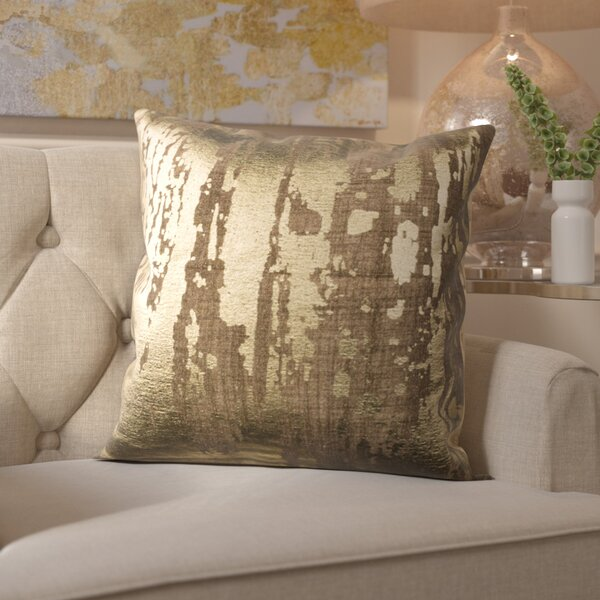 Cuaron Metallic Splatter Cotton Throw Pillow by Mercer41