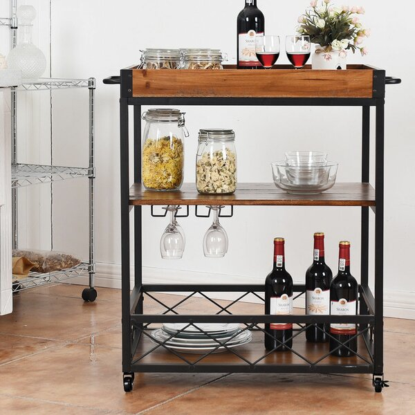 Valentin 3 Tier Rolling Kitchen Cart by Williston Forge
