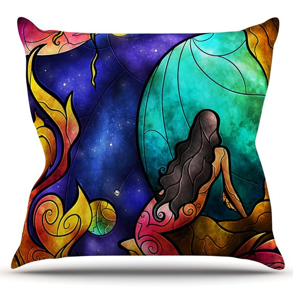 Believe by Mandie Manzano Outdoor Throw Pillow by East Urban Home