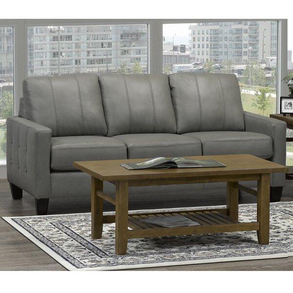 Eilish Genuine Leather Sofa By 17 Stories