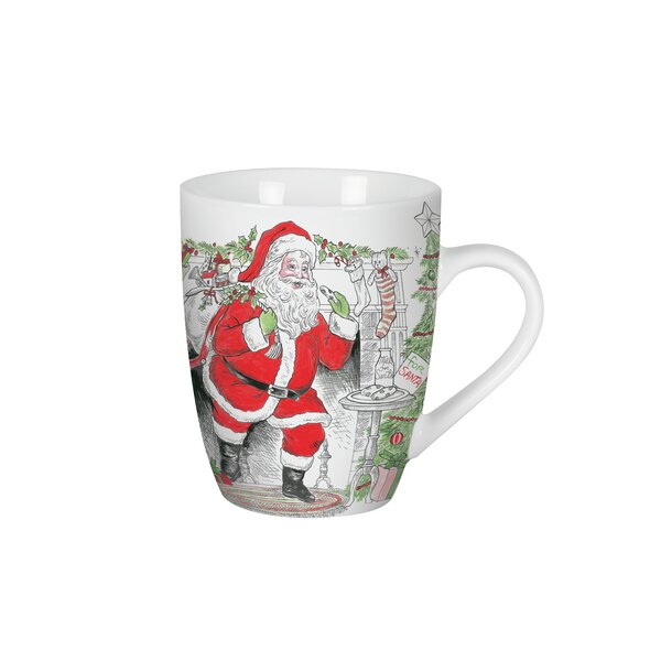 Vintage Holiday Mug Set Of 2 By Fitz And Floyd.