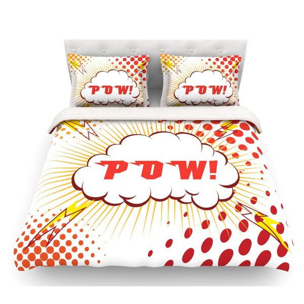 POW!  Cartoon Featherweight Duvet Cover by East Urban Home