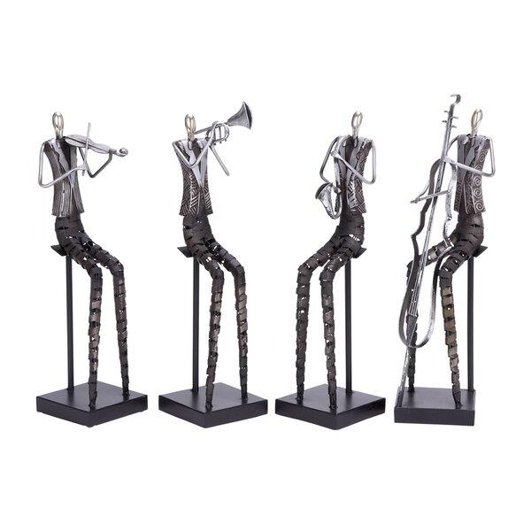 Metal Musician 4 Piece Figurine Set by Cole & Grey