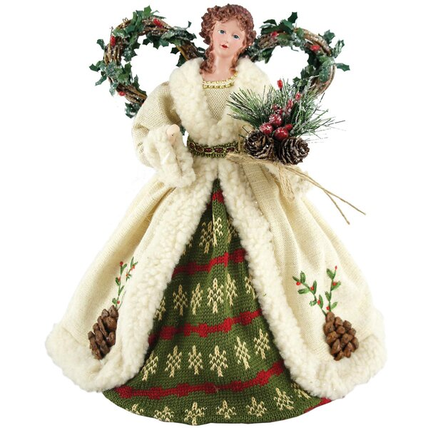 Pine Cone Angel Tree Topper by The Holiday Aisle