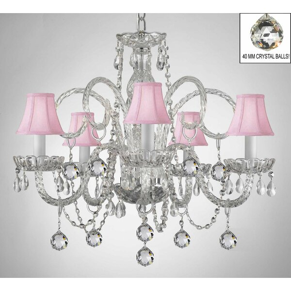 Meredith 5-Light Shaded Chandelier by House of Hampton