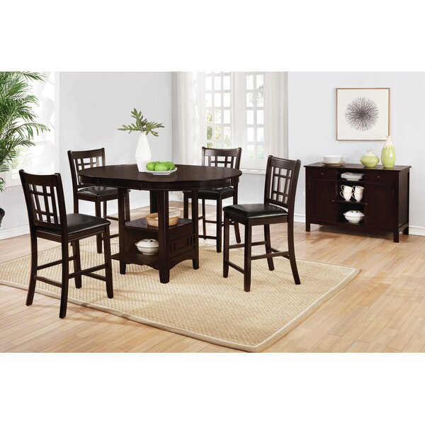 Azusa 5 Piece Counter Height Extendable Dining Set by Winston Porter Winston Porter