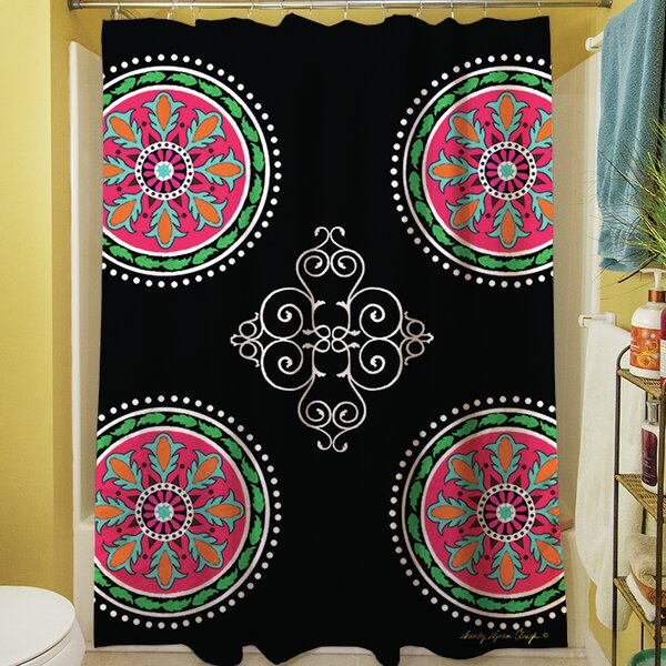 Boho Medallion Square Shower Curtain by Manual Woodworkers & Weavers