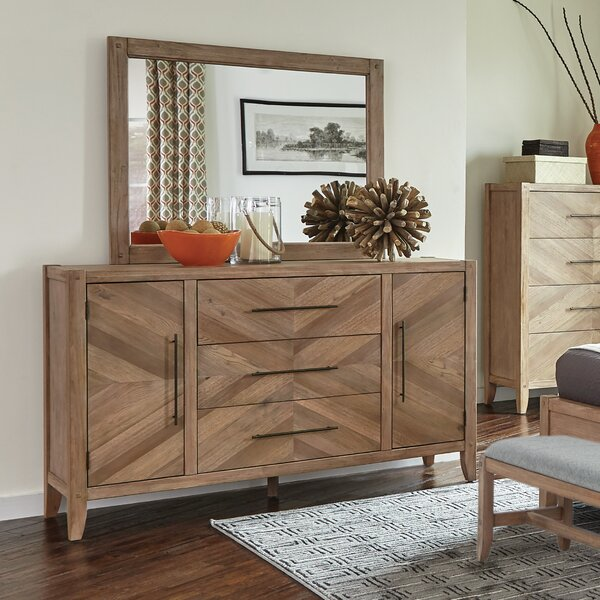 3 Drawer Combo dresser with Mirror by Scott Living