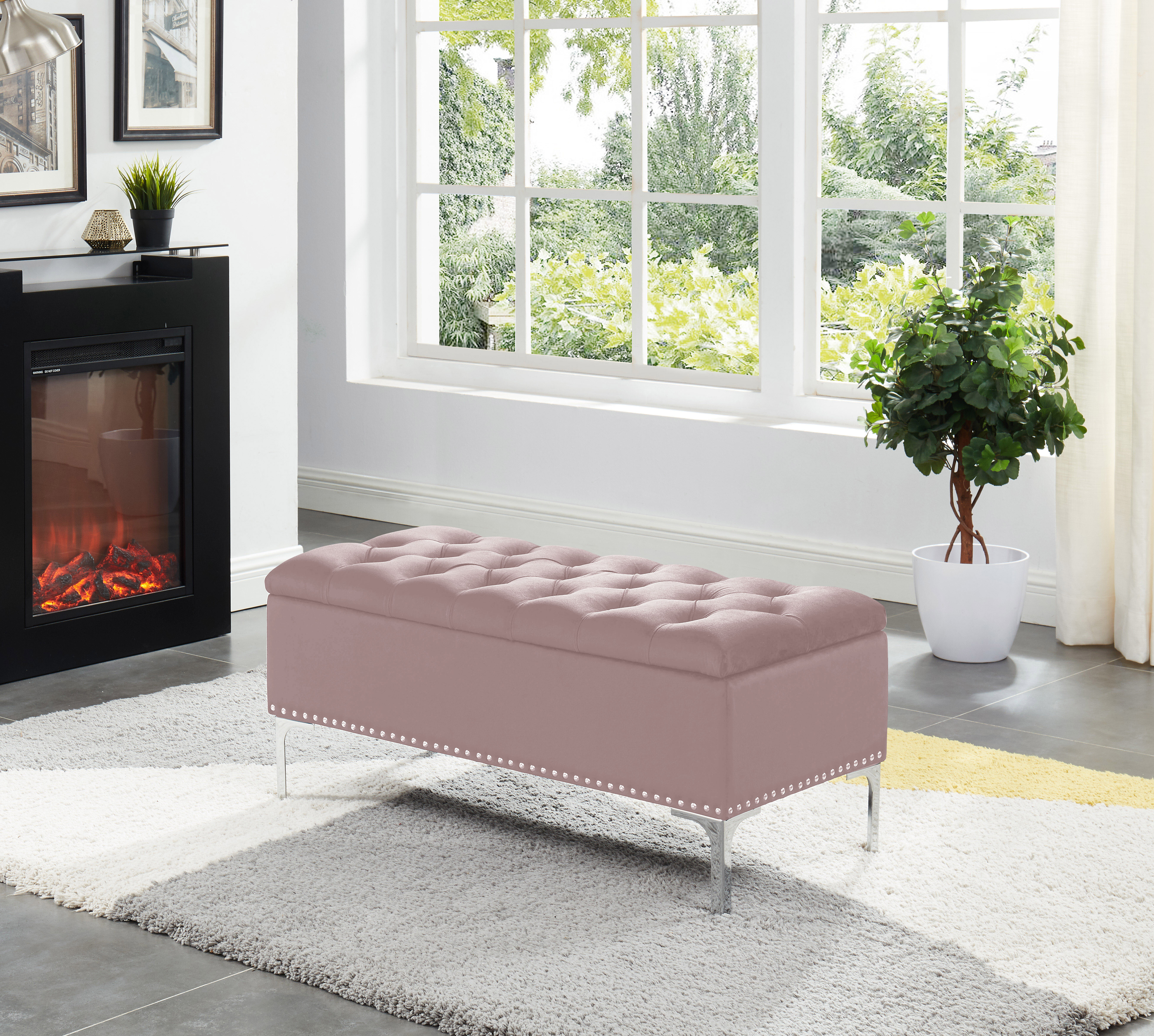 Phenomenal House Of Hampton Barrie Storage Bench With Metal Legs Gmtry Best Dining Table And Chair Ideas Images Gmtryco