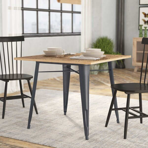 Spurling Metal and Wood Dining Table by Laurel Foundry Modern Farmhouse