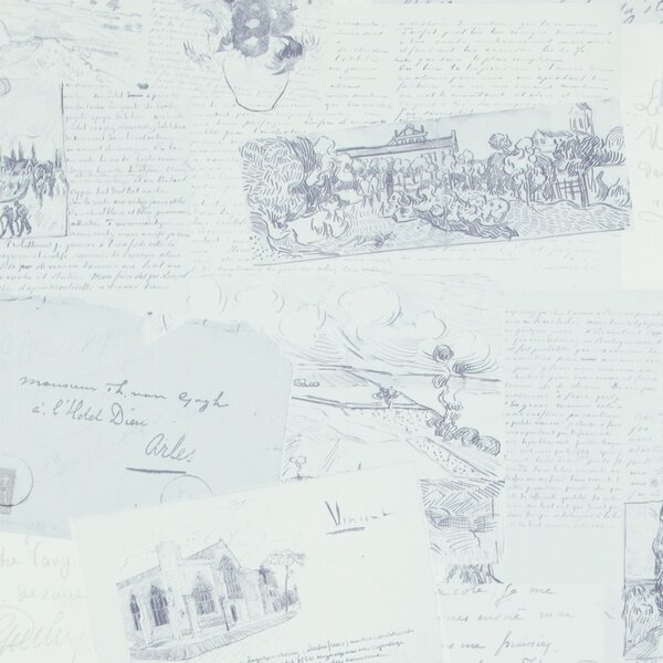 Letters from Van Gogh 32.97 x 20.8 Abstract Wallpaper by Walls Republic