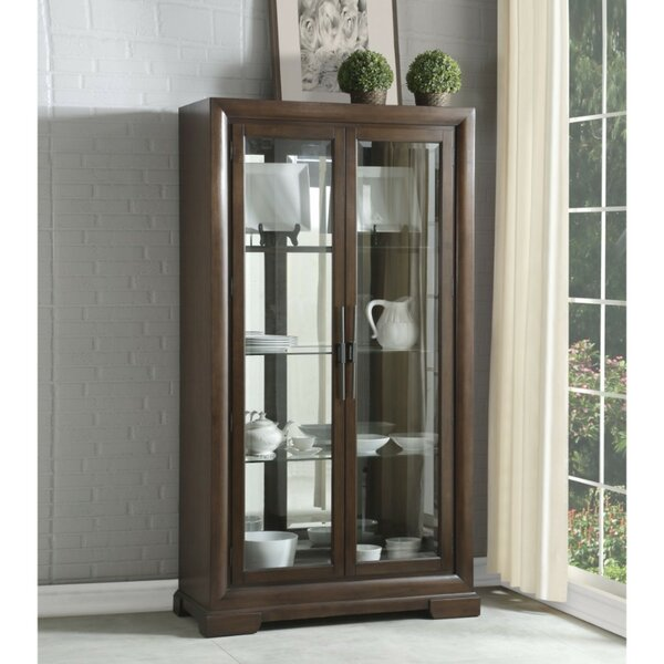 Framlingham Spacious Wood and Glass Curio Cabinet by Darby Home Co