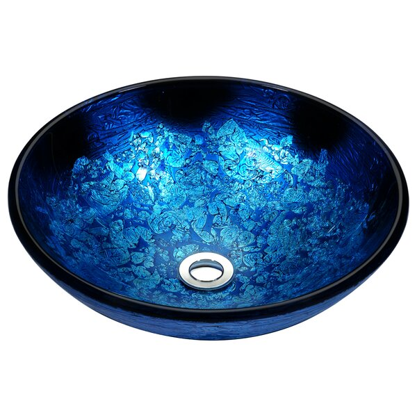 Stellar Series Glass Circular Vessel Bathroom Sink by ANZZI