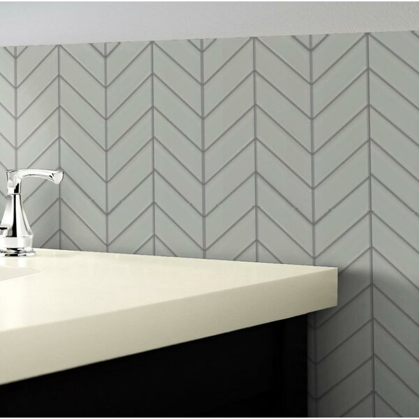 Edge 1 x 2 Glass Mosaic Tile in White by Emser Tile