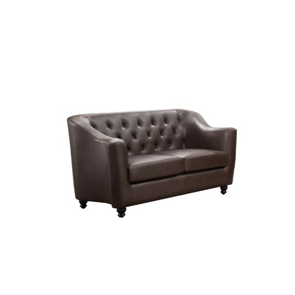 Godalming Button Tufted Loveseat by Charlton Home