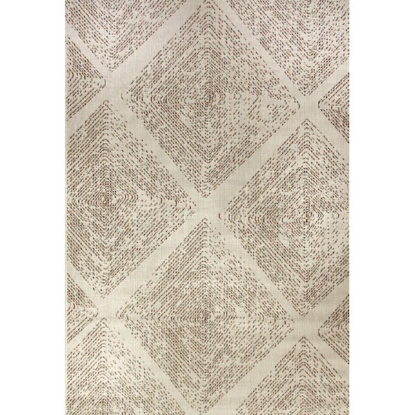 Wilcox Cream Indoor/Outdoor Area Rug by Bungalow Rose