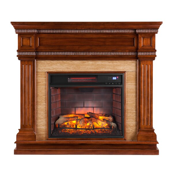 Alan Electric Fireplace by Alcott Hill